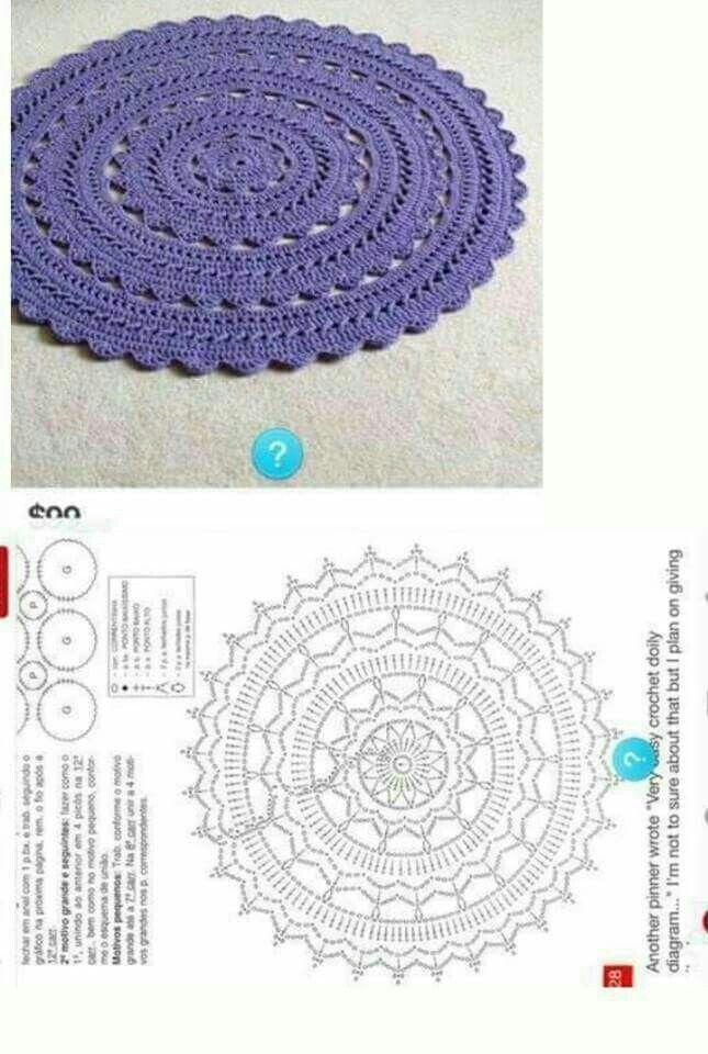 Pin de Inora Chany en Crochet- knitting | Pinterest | Tapetes de ...
