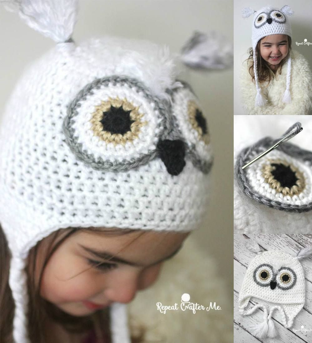 Snowy Owl Hat [Free Crochet Pattern & Tutorial]