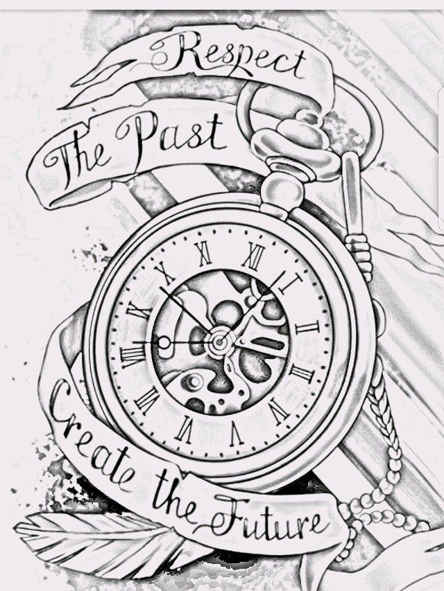 Ndnzkd Enzo Watch Tattoo Design Watch Tattoos Clock Tattoo Design