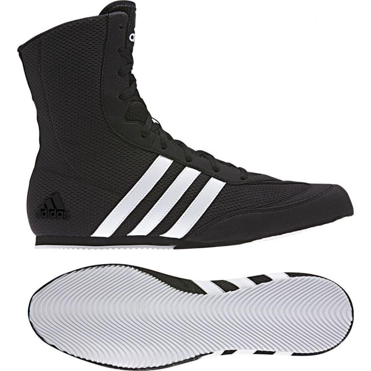 Sportowe Meskie Adidas Czarne Buty Bokserskie Adidas Box Hog Ii Boxing Boots Boxing Shoes Black Boots