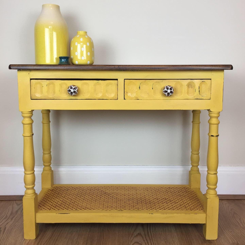 Annie Sloan Tilton Dark Wax Yellow Furniture Cottage