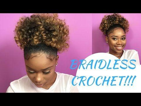Braidless Crochet High Puff Hair Hair Hair Styles Braids