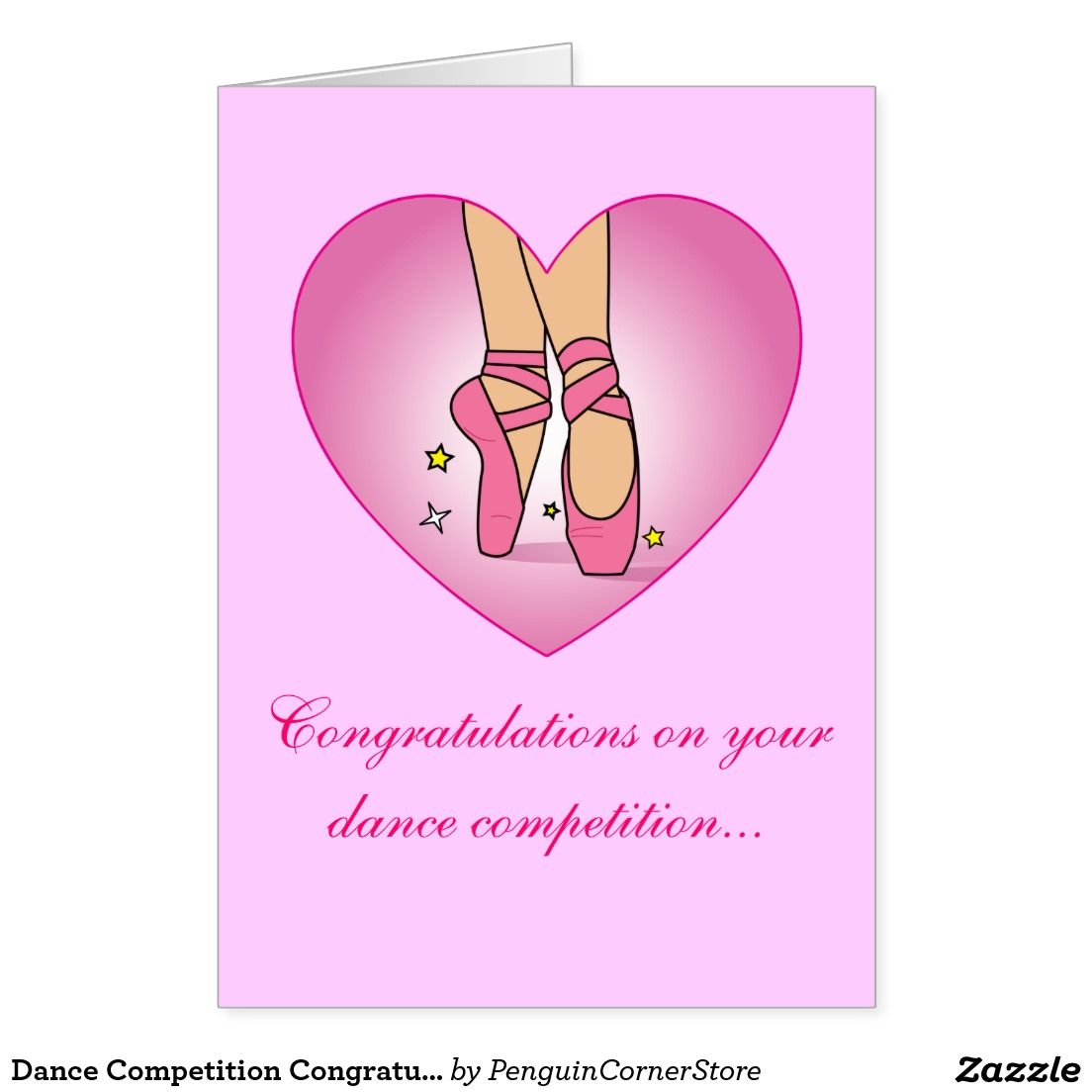 Dance Competition Congratulations Card Customizable Cards