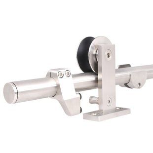 Homacer Bypass Barn Door Hardware Kit | Wayfair
