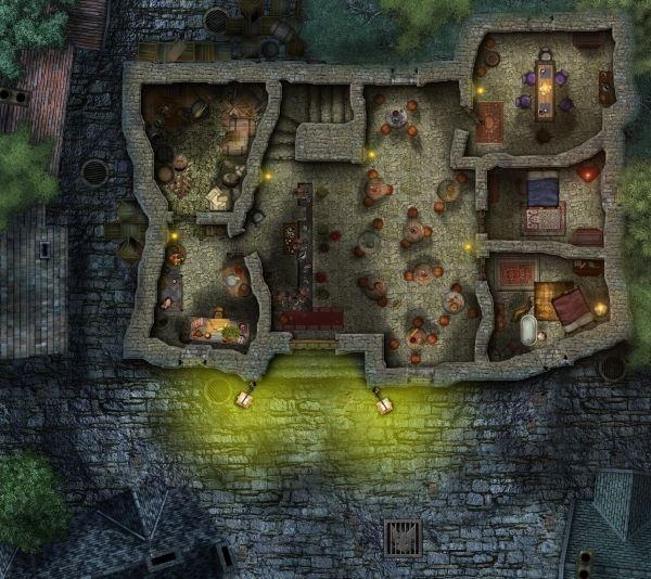 West Marches Tavern D Amp D Battle Maps Urban Fantasy Map