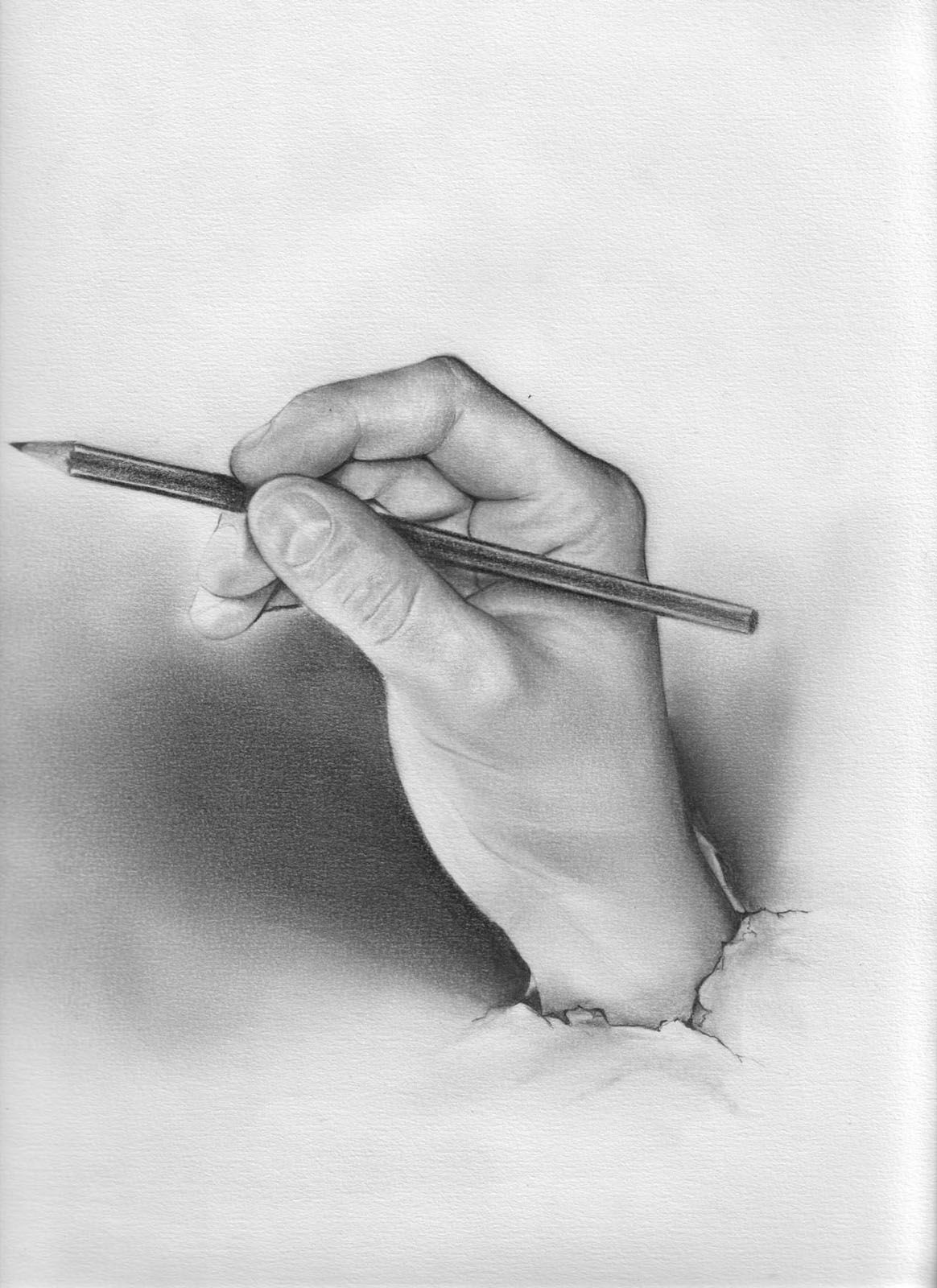 Ma main main dessin crayon drawing portrait dessin à la main peinture stefouine