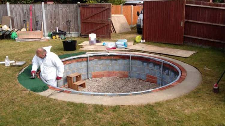 Sunken Trampolines Homemade Swimming Pools Inground Pool Diy Diy Pool