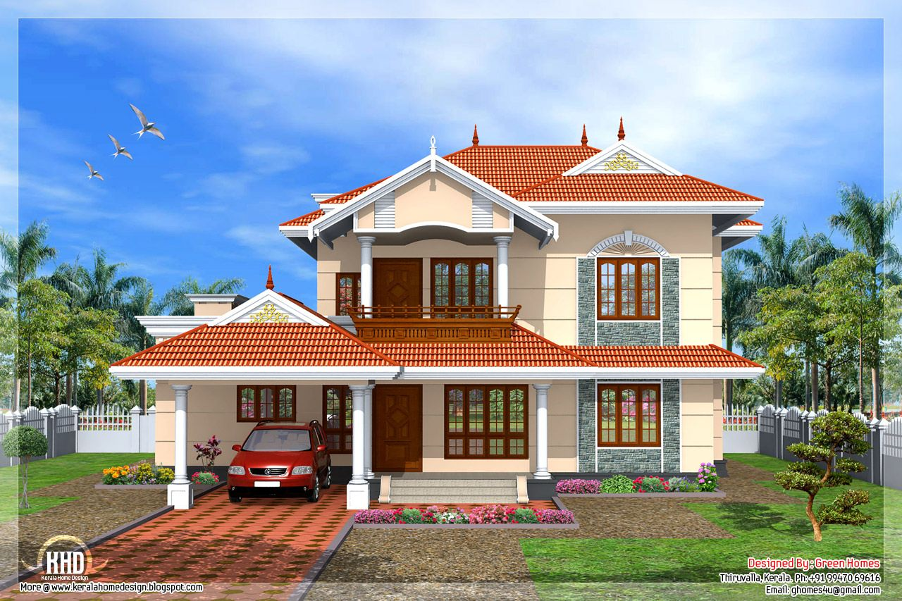 Kerala style bedroom home design green homes thiruvalla for Free home plans india