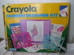 Crayola Fashion Designer Kit Fashion Girl Design Stencil Stickers Fashion Design