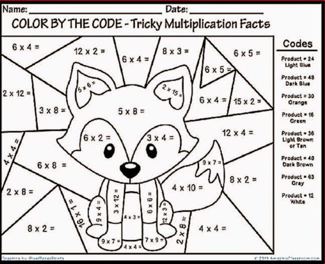 coloring pages for multiplication tables - photo#13
