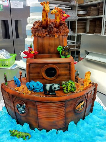 Sweet Cake Ark : sweet, Noah's, Noahs, Cake,, Birthday