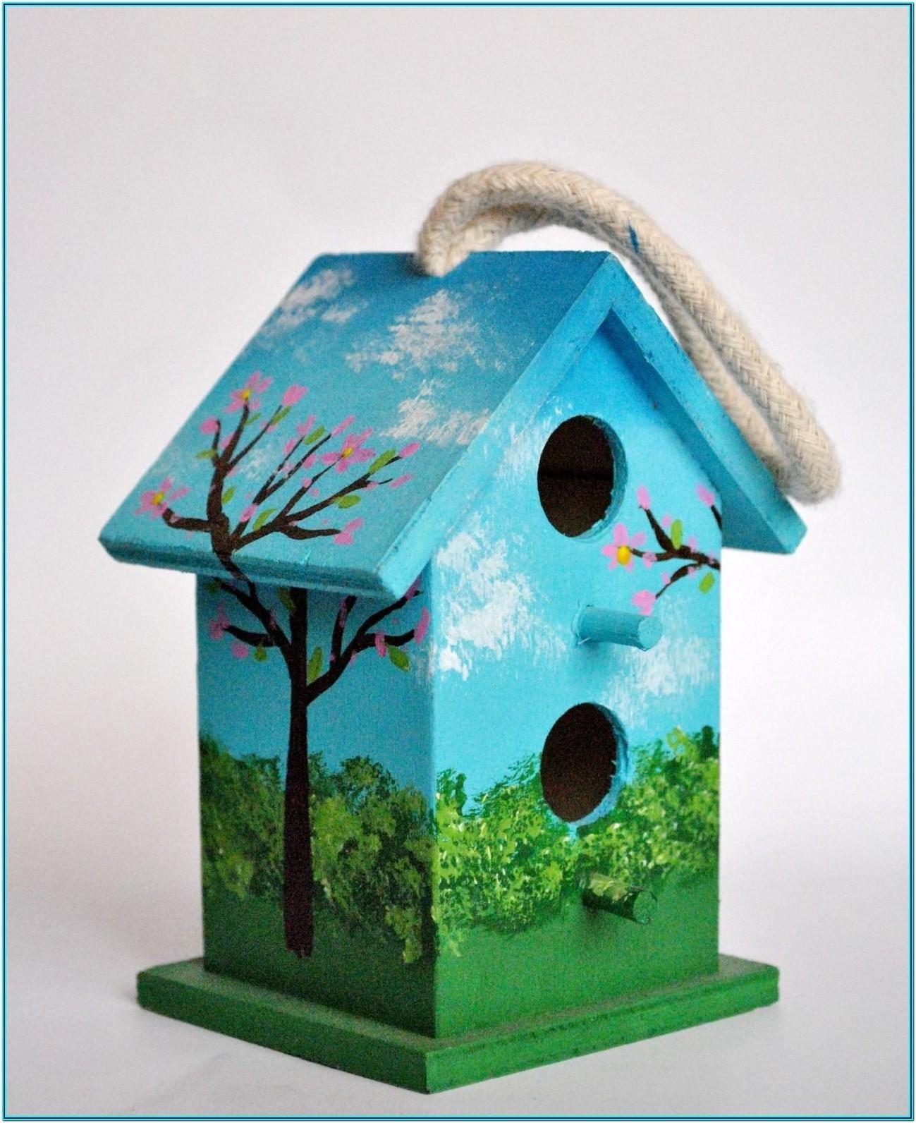 Mini Birdhouse Painting Ideas Bird Houses Painted Bird Houses Ideas Diy Decorative Bird Houses