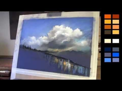 Learn How To Paint Clouds Using Pastels Pastel Landscape Cloud Painting Pastel Painting