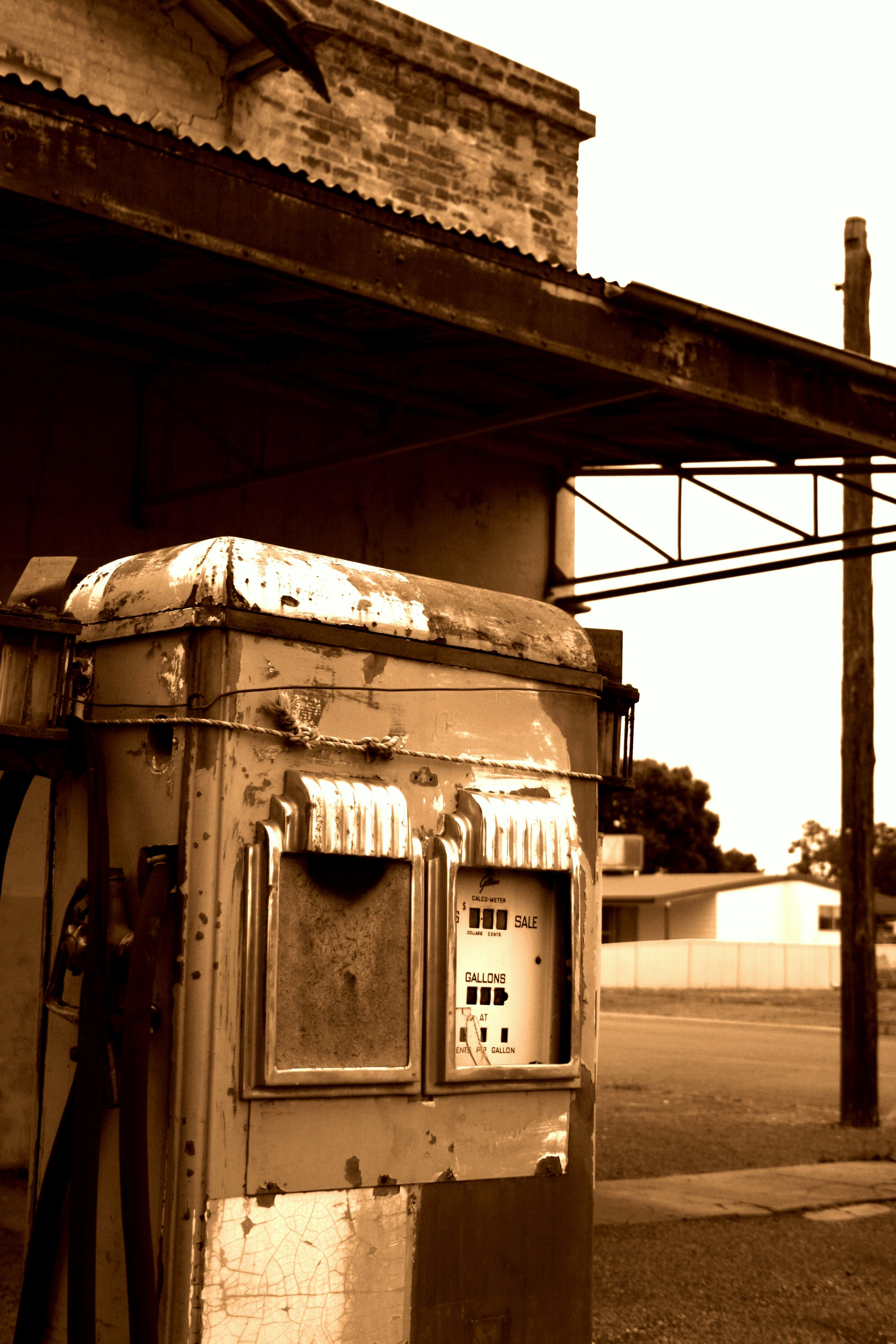 Old Petrol pump Cobar NSW Australia This is Totally