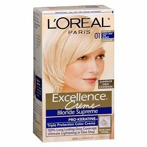 L Oreal Excellence Creme Triple Protection Color Creme Permanent Haircolor Extra Light Natural Blonde 02 Loreal Loreal Paris Permanent Hair Color