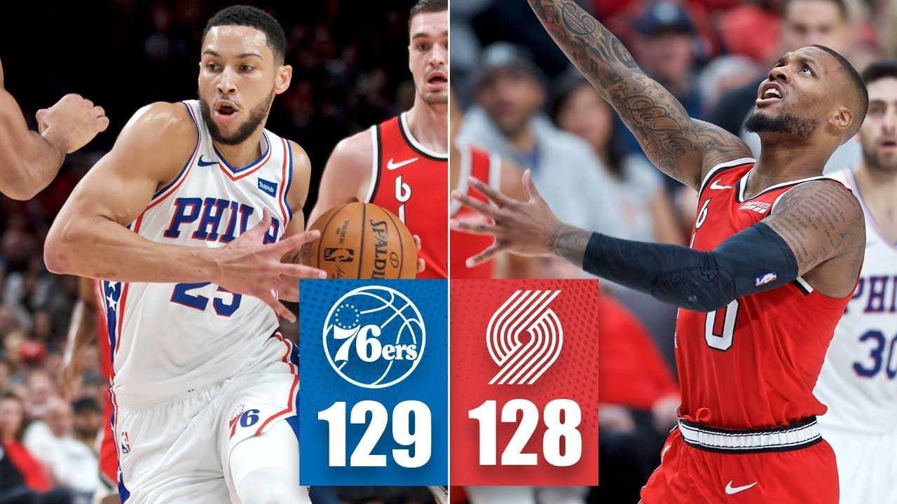 Ben Simmons Leads The 76ers To A Thrilling Finish Vs The Trail Blazers 2019 20 Nba Highlights Ben Simmons Trail Blazers 76ers