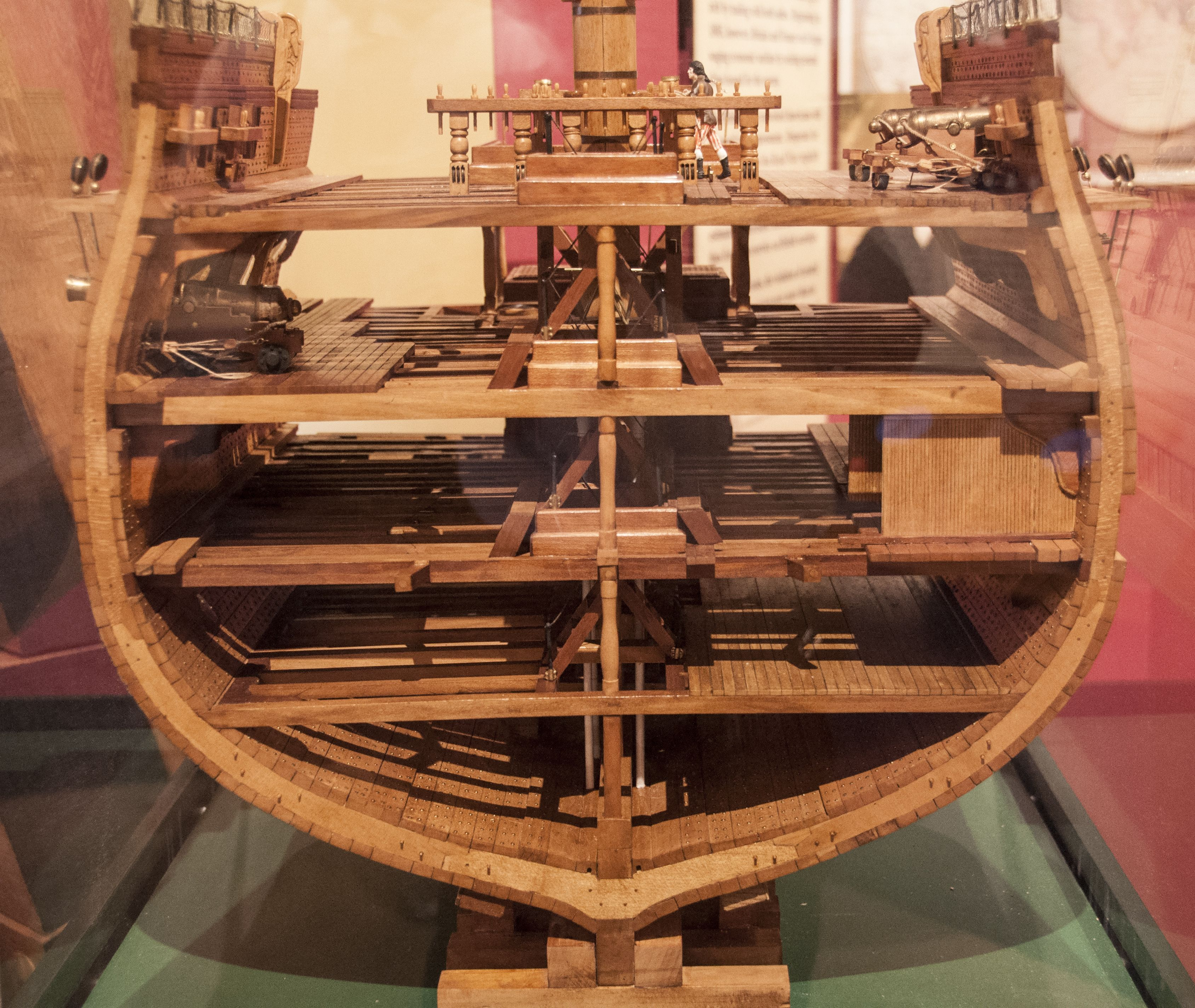 This Cutaway Shows How Little Head Room There Really Was On The Ships