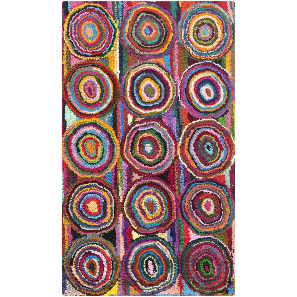Safavieh Handmade Nantucket Pink/ Multi Cotton Rug (2'3 x 4') | Overstock.com Shopping - Great Deals on Safavieh Accent Rugs