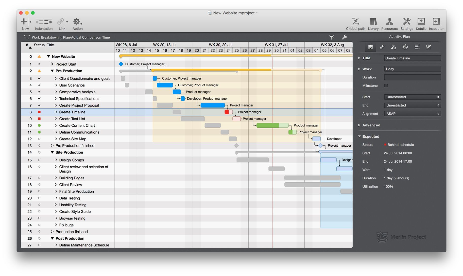 Mac app for project management