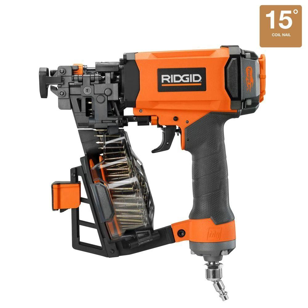 Ridgid 1 3 4 In Roofing Coil Nailer R175rne At The Home Depot Roofing Nailer Coil Nailer Roofing