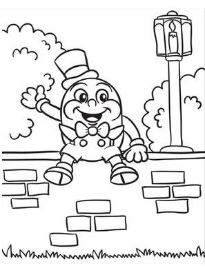 10 Adorable Humpty Dumpty Coloring Pages For Toddlers Nursery