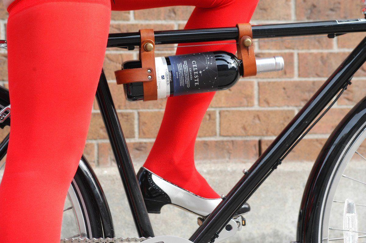 Bicycle Wine Rack Leather Bicycle Cool Bike Accessories Wine Rack