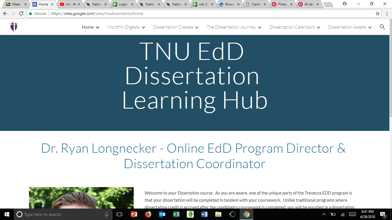 Tnu Edd Dissertation Hub The Include Monthly Video Digest Chapter By Info Apa Writing Statistic And Calendar Learning Purdue Owl Bibliography Generator