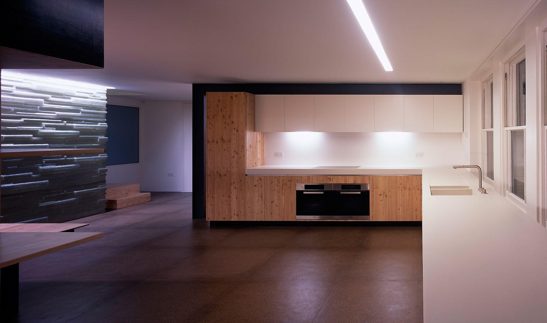 Kitchens perren street tintab contemporary bespoke for Small kitchen wardrobe