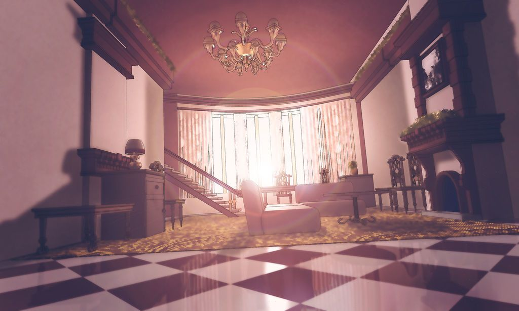 Morning In A House By Seventhtale Anime Classroom Anime Background House Anime Anime living room background morning