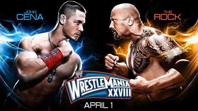 john cena vs the rock at wrestlemania