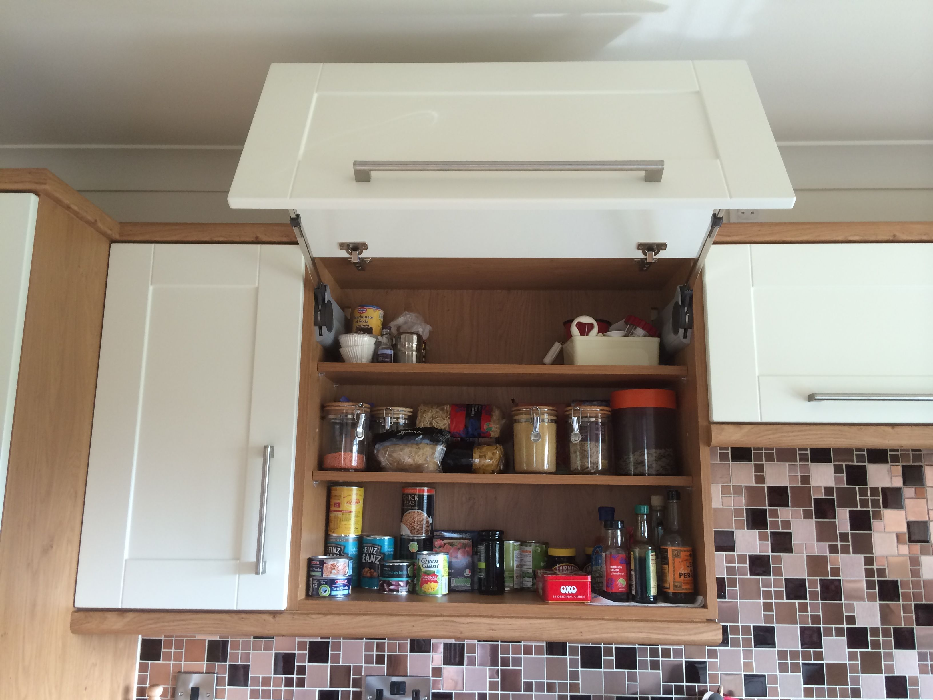 CRP Carpentry - Cologne Ivory Doors with Oak Carcases ...