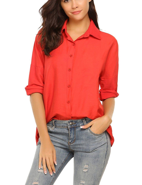 50++ Red dress shirts womens ideas