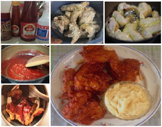 Ayam Goreng Ala Richeese Dengan Saus Keju Ayam Goreng Makan Malam Resep