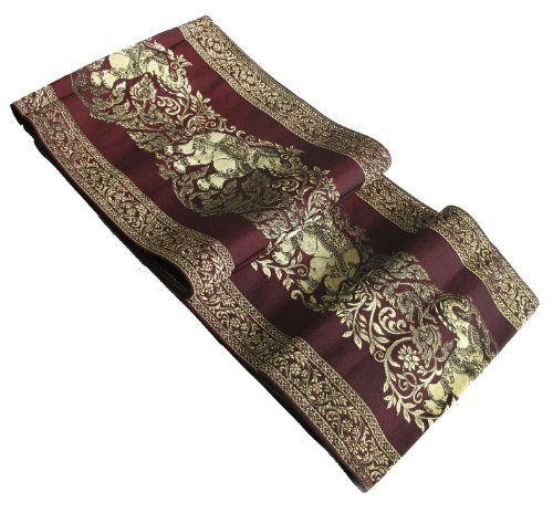 Best Seller Really Nice Texture Big Elephant In Gold Bed Runner Or Table Runner Polyester And Thai Silk Dining Table In Kitchen Dining Table Runners Bed Runner