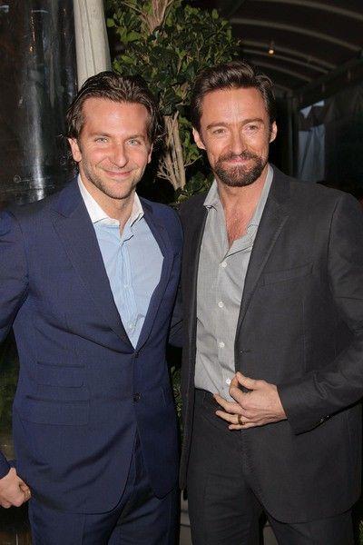 Bradley Cooper & Hugh Jackman at the BAFTA Los Angeles 2013 Awards Season  Tea Party | Hugh jackman, Hooray for hollywood, Wolverine hugh jackman