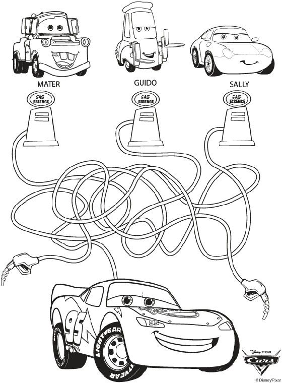 Pin de KONPANYA KARTOONS en cars para colorear | Pinterest | Colorear