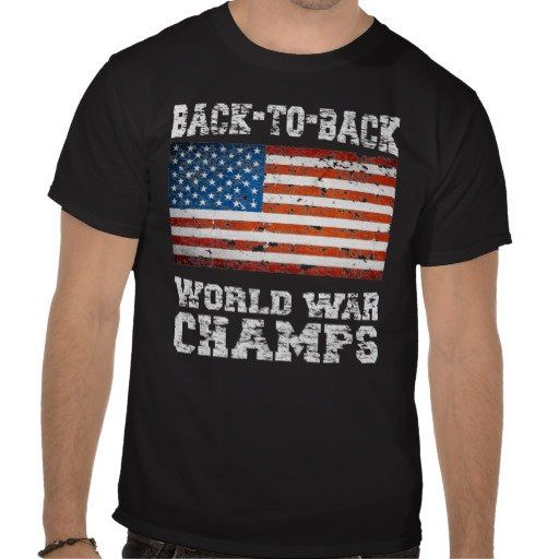 Back to Back World War Champs Distressed Black Tee