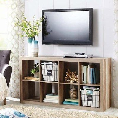 Organizer 8 Cube Storage Book Shelves Eight Square Tv