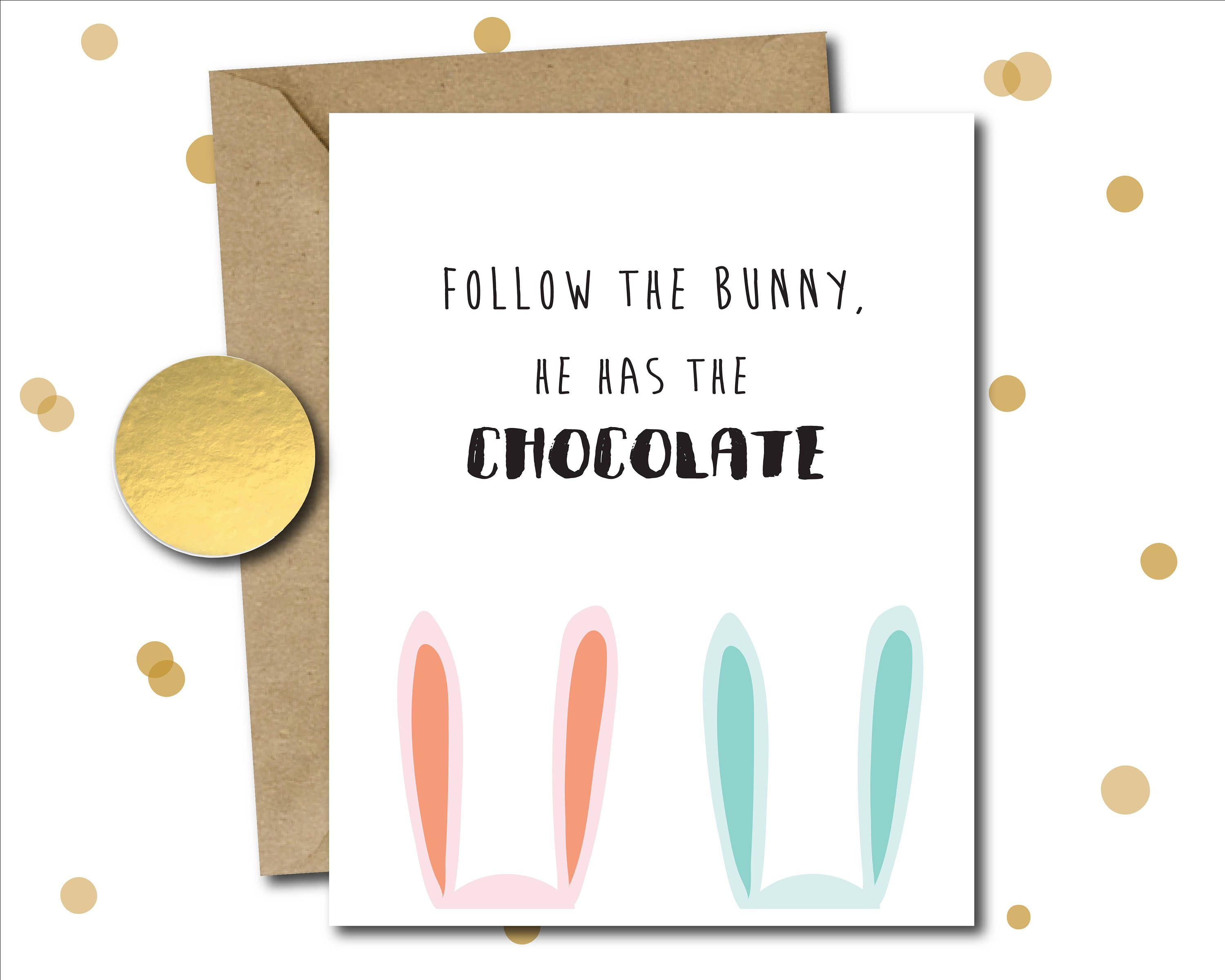 Funny Easter Card Gifts Pack Bunny Quotes