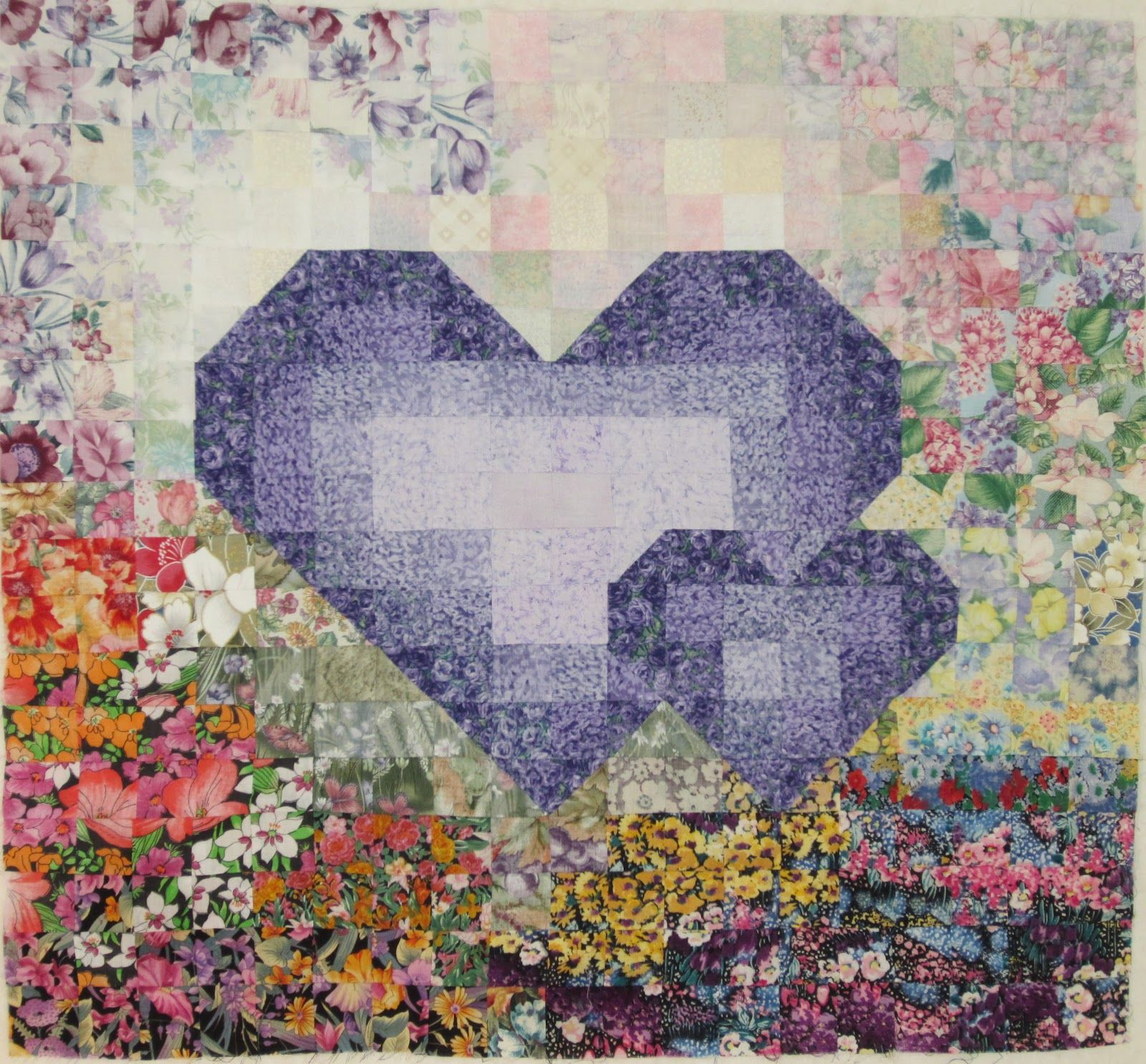 Watercolor Hearts Quilt By Pat Merkle Color Me Quilty Pieced By