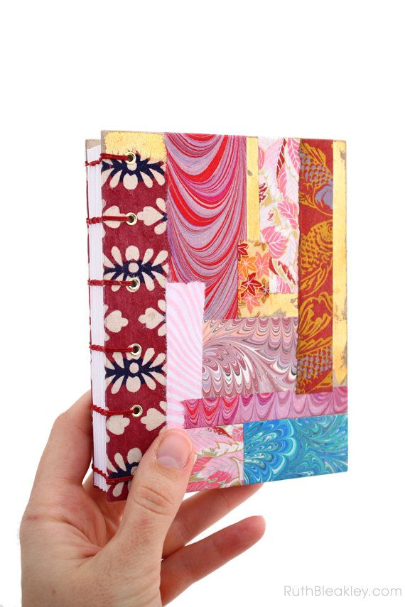 Patchwork Journal Chiyogami Handmade Blank Book by RuthBleakley