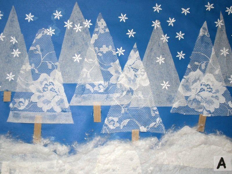 Techniki plastyczne zima szukaj w google przedszkole - Winter basteln im kindergarten ...