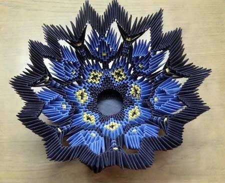 3D Origami Bowl Centerpiece Tutorial