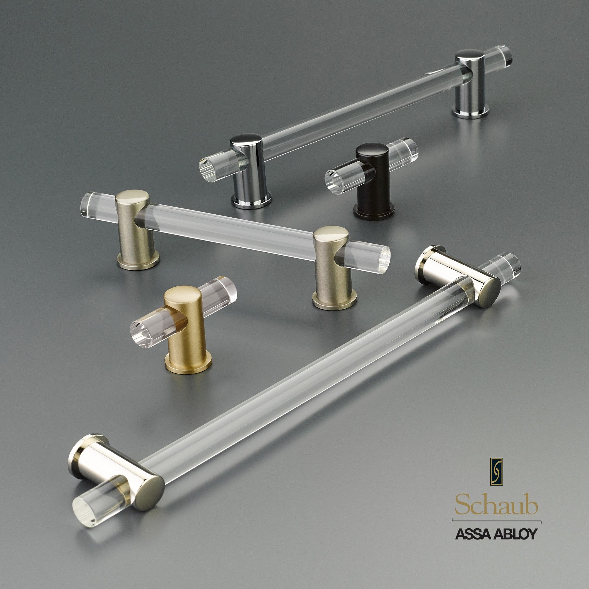Schaub U0026 Companyu0027s Lumiere Collection Of Lucite Cabinet Hardware