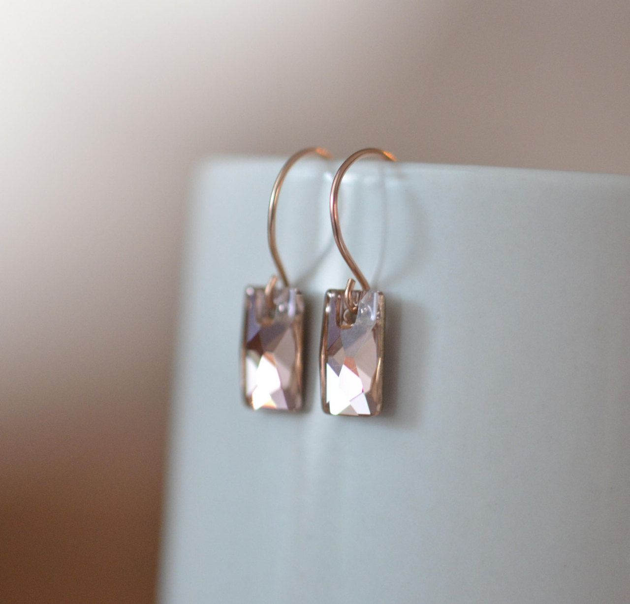 rose gold swarovski crystal earrings | Things That Go Bling ...