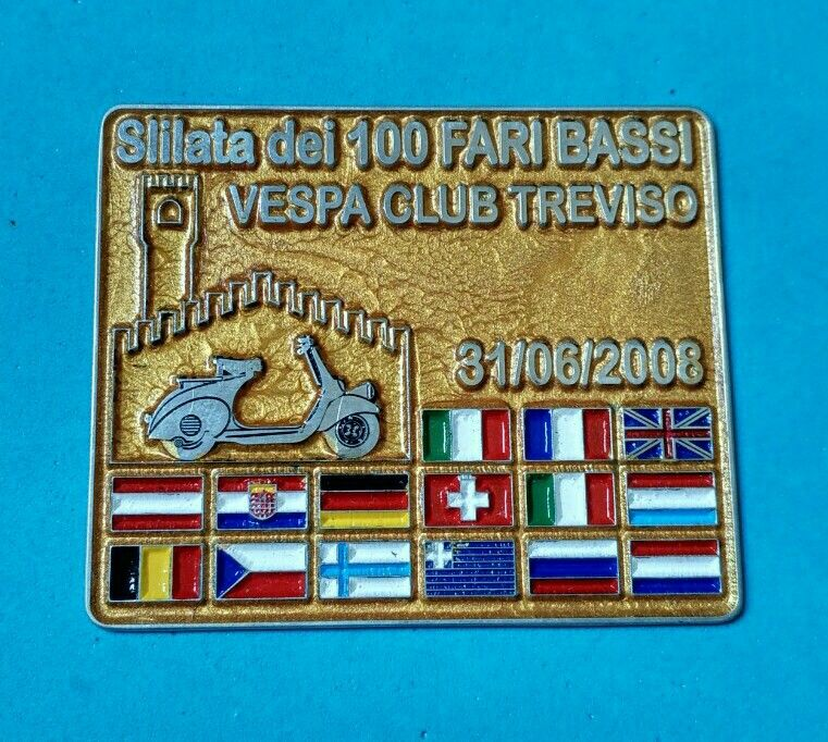 Badge Placca Plakette Vespa Club Treviso