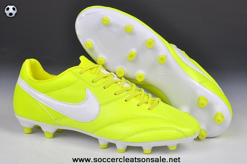 Authentic Nike The Premier FG Cleats Fluorescent yellow/white Latest Now