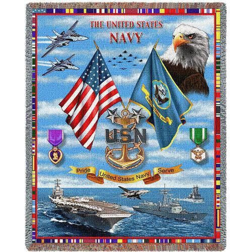 US Navy Sea Power Blanket - With Love Home Decor
