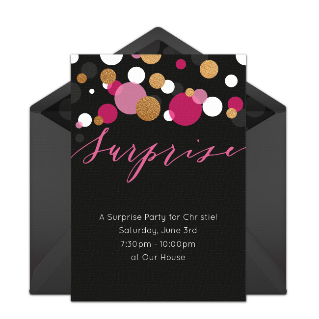 Free Surprise Birthday Party Invitation With A Modern Design Love This For Fun 30th
