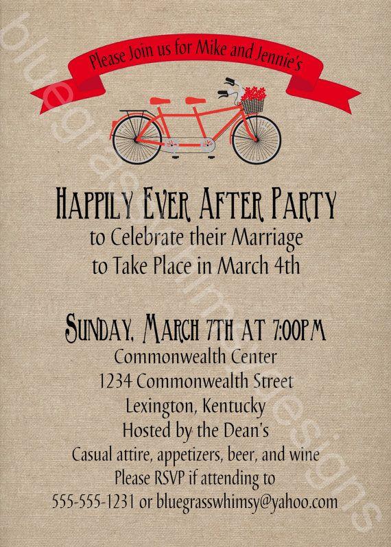 Tandem Bicycle Rustic Burlap Linen Post Wedding Celebration